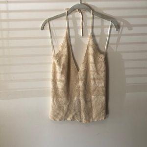 Zara sweater halter top. Cream. Size M